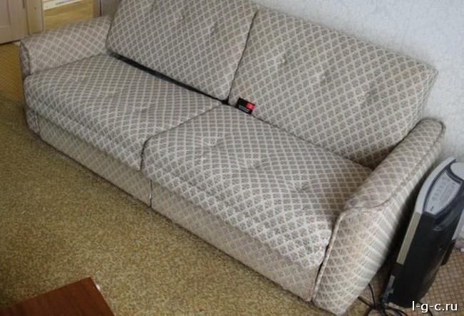 Как самому обшить диван кожей видео